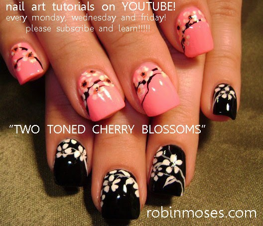 "Robin Moses Nail Art February 2015: Robin Moses Nail Art: ""Cherry Blossom Nails"" ""cherry"