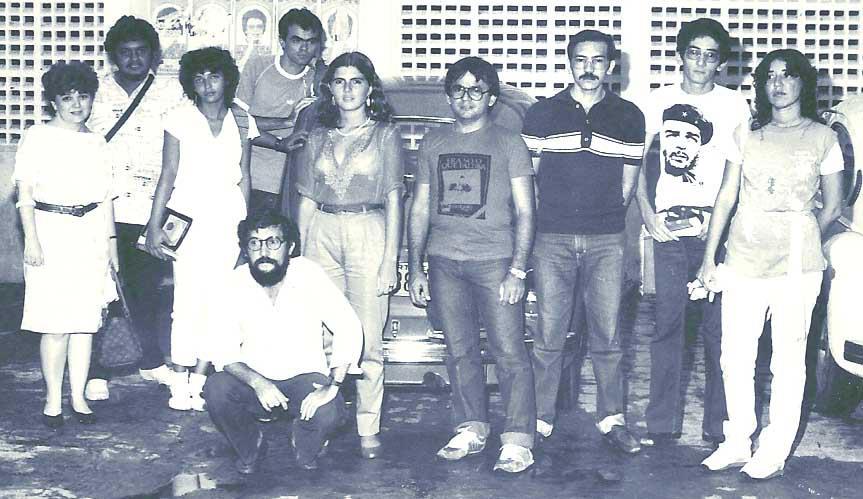 Turma da revista Comboio Vida & Arte - 1981