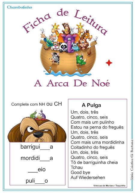 Ficha de Leitura Texto A Pulga
