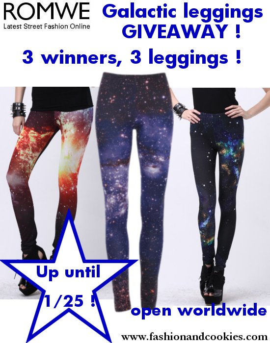 Romwe galactic leggings giveaway on Fashion and Cookies