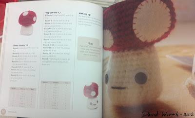 Amigurumi Book mushroom