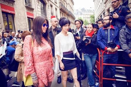 Josie Ho and Yvette Yung Paris Street Fashion