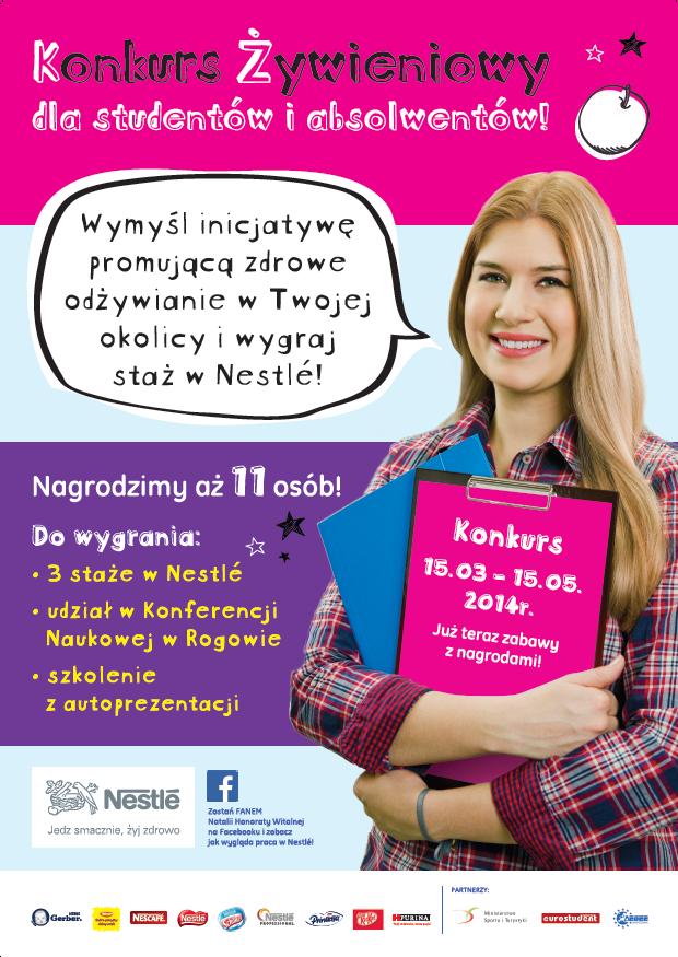 Konkurs żywieniowy Nestle dla studentów i absolwentów kierunków dietetycznych