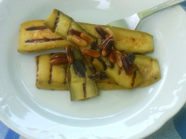 zucchine grigliate all'agro
