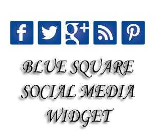 Blue+Square+Social+Media+Widget