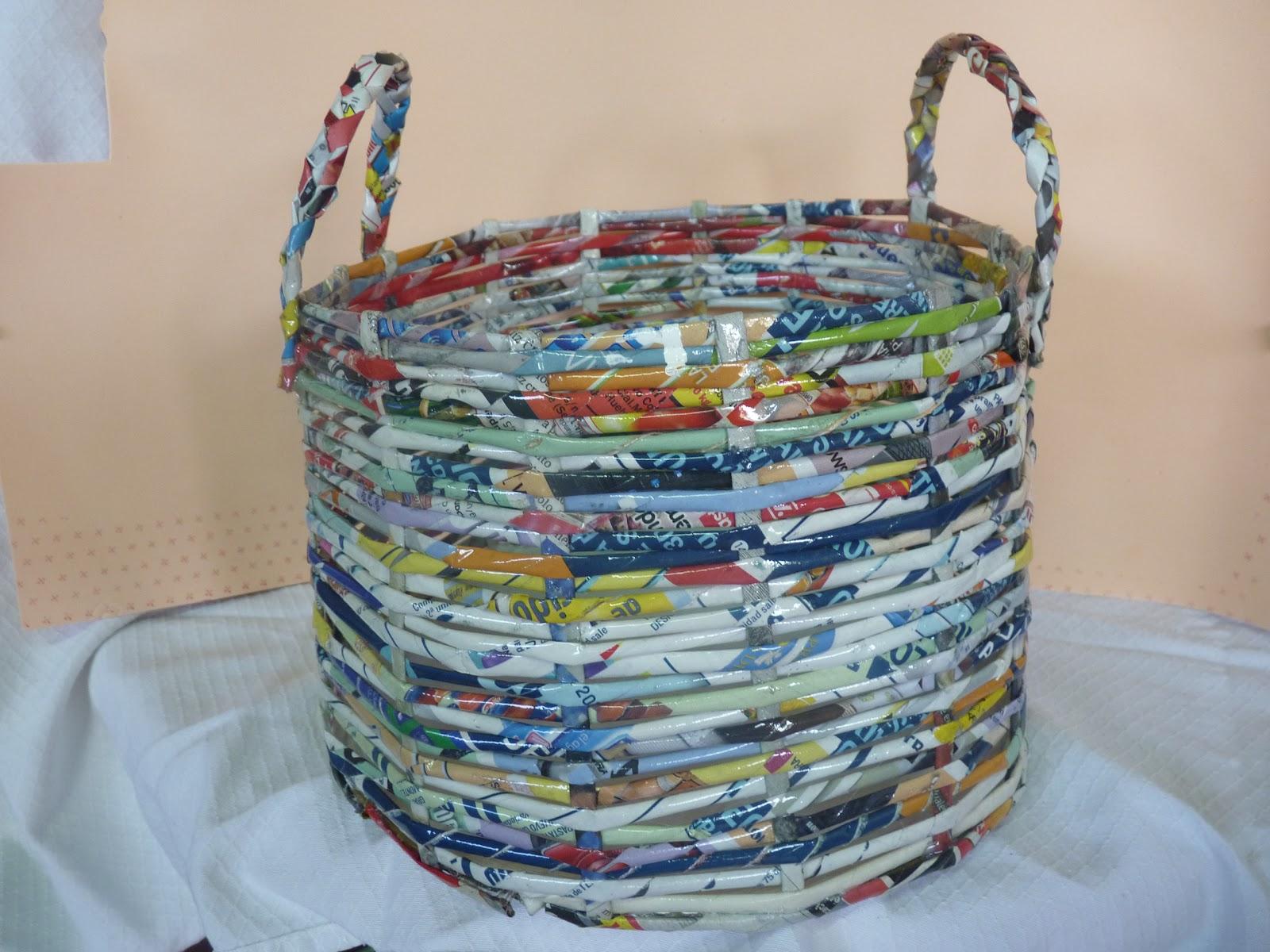 Плетение корзинки за 2 вечера из любой бумаги мастер-класс 9