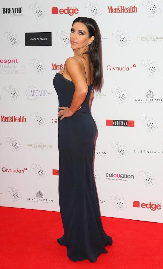 KIM KARDASHIAN shows off her great classy dress at The FiFi UK Fragrance Awards 2012 red carpet
