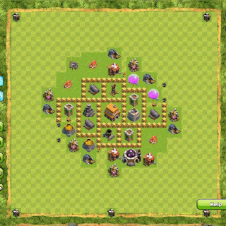 Base Clan War TH5 4