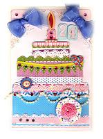 pomysł na kartkę urodzinową w formie tortu