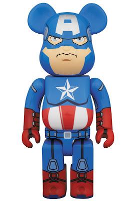 Captain America The Avengers 400% Be@rbrick Vinyl Figure by Medicom