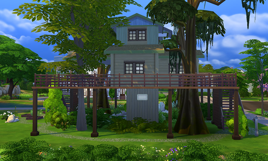 Image result for tree house sims houses