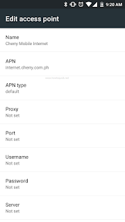 Cherry Prepaid APN settings