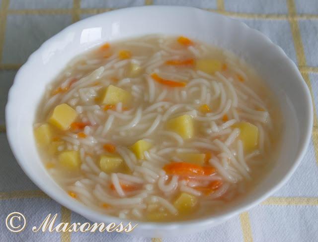 Картофельный суп с макаронными изделиями