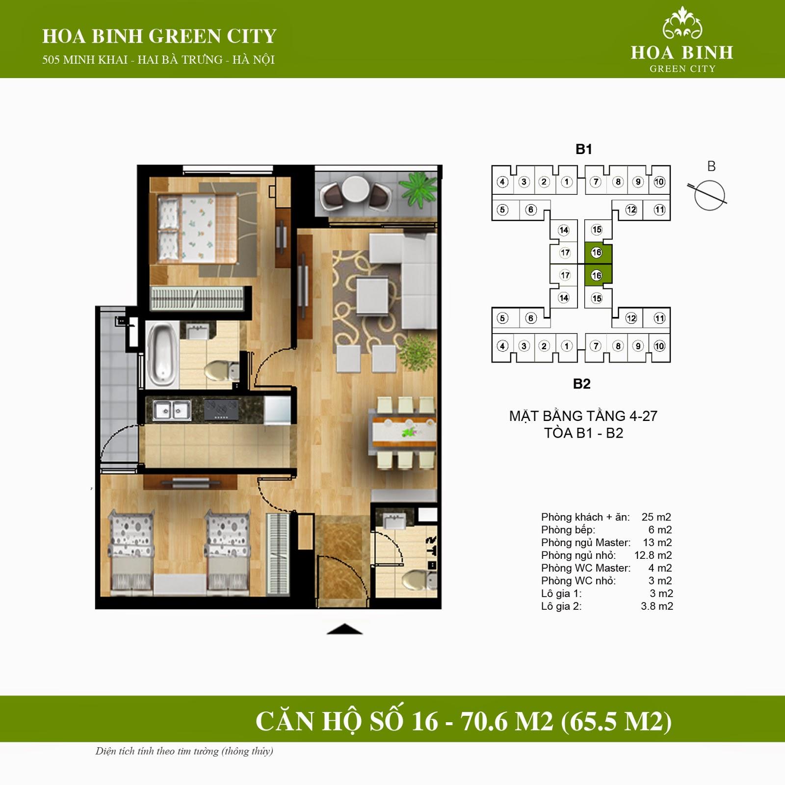 Hòa Bình Green City B 70,6m2