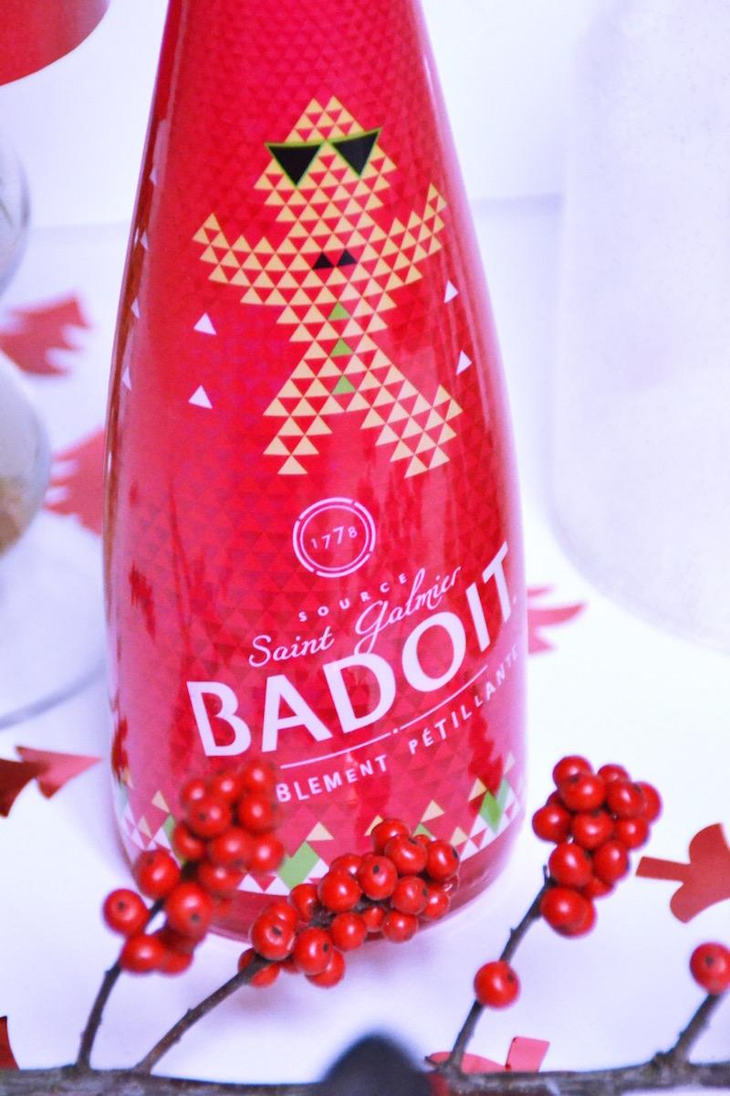Bouteille Badoit édition limité Noël