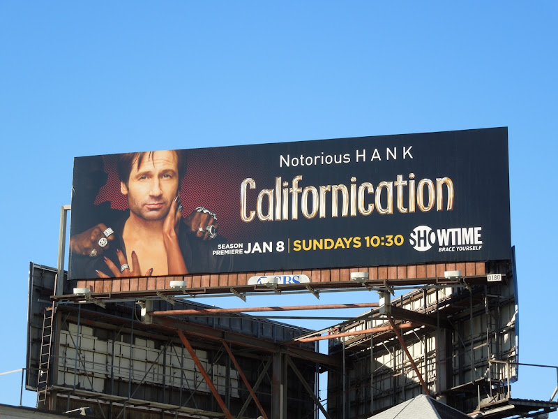 Californication season 5 TV billboard