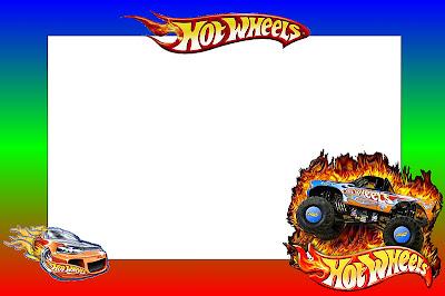 Hot Wheels - Kit Completo com molduras para convites ...