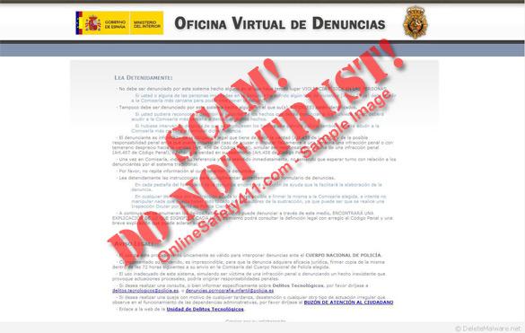 Entfernen sie computer virus l schen oficina virtual de for Oficina de emprego virtual