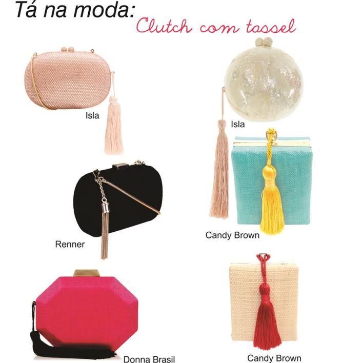 Bolsa De Festa Roxa : T? na moda clutch com tassel madrinhas de casamento