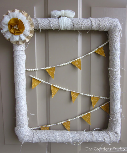 diy spring frame door wreath