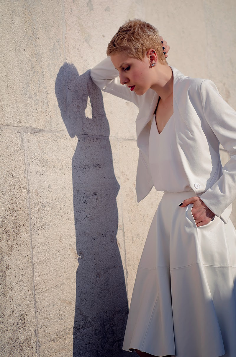white leather midi skirt zara beeswonderland