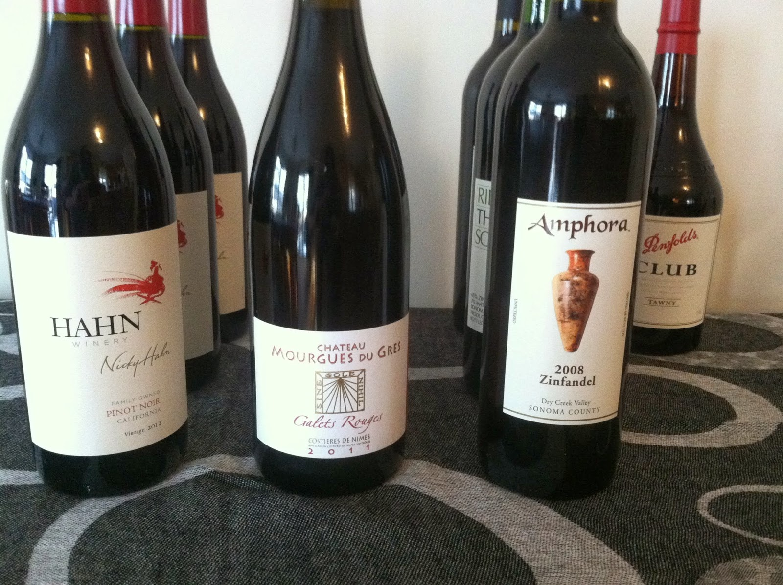 Hahn Pinot Noir and Ampora Zinfandel featured in recent Cooking Chat pairings. #wine
