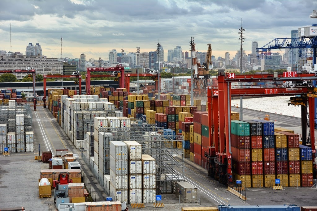 Port of Buenos Aires containers
