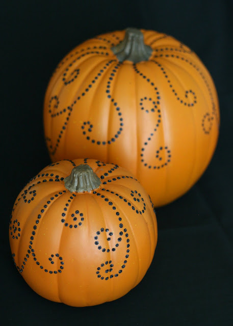 Pretty Jeweled Pumpkins D I Y Craft Glorious Treats