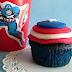 Blue Velvet Cupcakes - Capitaine America