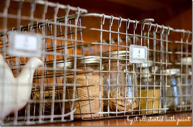 How to age new wire baskets to look old - by It All Started With Paint featured on I Love That Junk