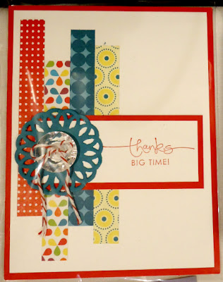Quick & easy thank you card with Summer Smooches Designer Series Paper
