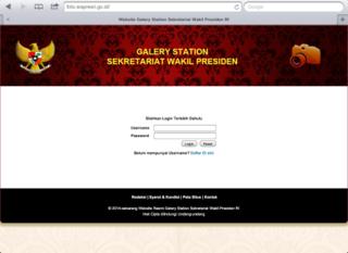 Sistem Galery Station Sekretariat Foto Wapresri
