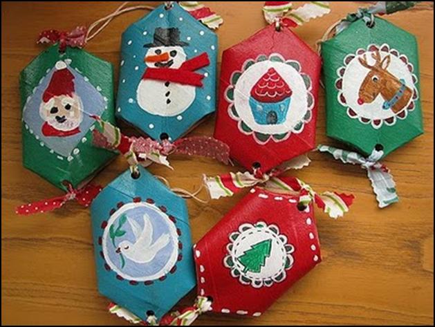 Universo vivo consumo responsable reutilizando rollos de - Manualidades con rollos de papel higienico navidenos ...