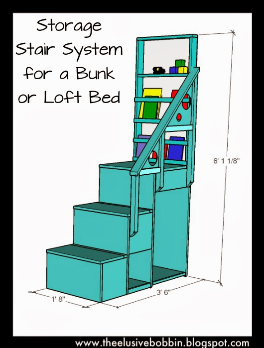 designed this storage stair system for bunk loft beds a while back ...