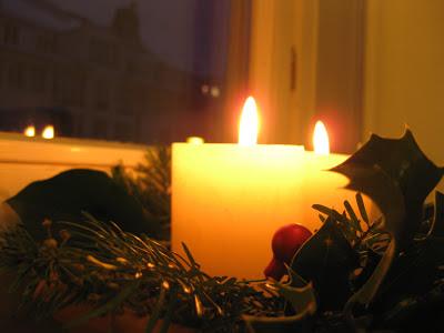 Weihnachten, Kerzen, Adventskranz, Gesteck
