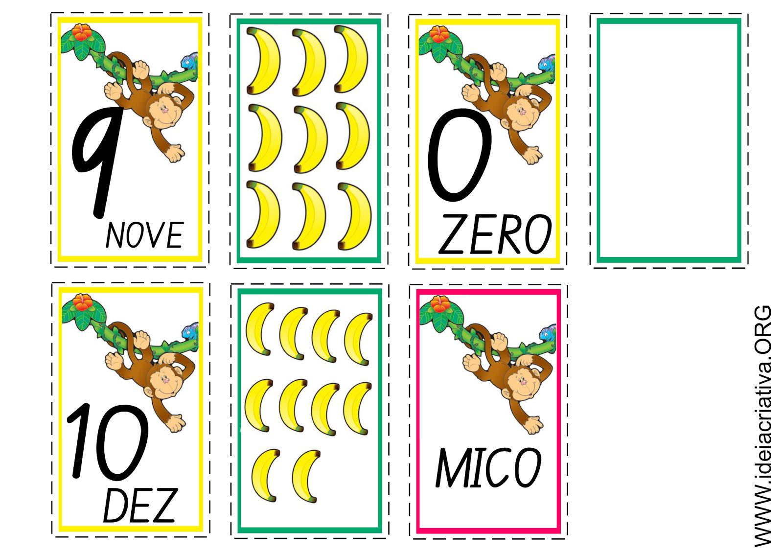 Flash Cards Número e Quantidade