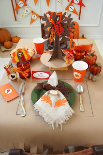 Etsy Frog Prince Paperie Thanksgiving Kid's Printable Pary Pack