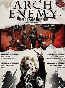 Arch Enemy en Madrid, Barcelona, Santiago y Pamplona en octubre