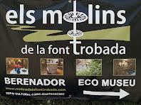 Cartell del Restaurant dels Molins de la Font Trobada