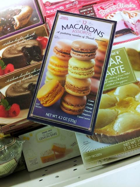 Trader Joe's flavored macarons box