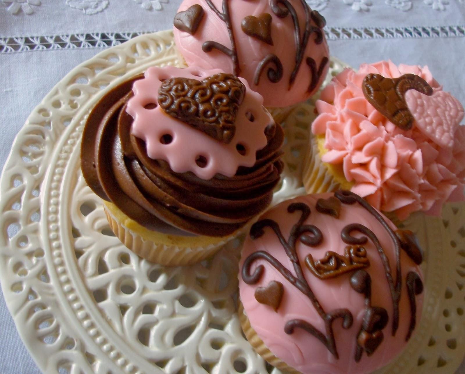 Cupcakes San Valentin, parte 1