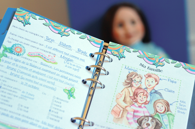 Maplelea Girls Canadian Dolls -Taryn's story journal - ma famille