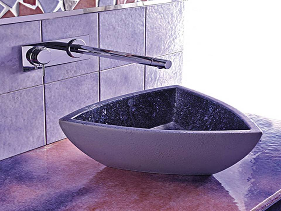 Black Bathroom Sink : Bathroom Shower Panel: Black Purple Bathroom Sink