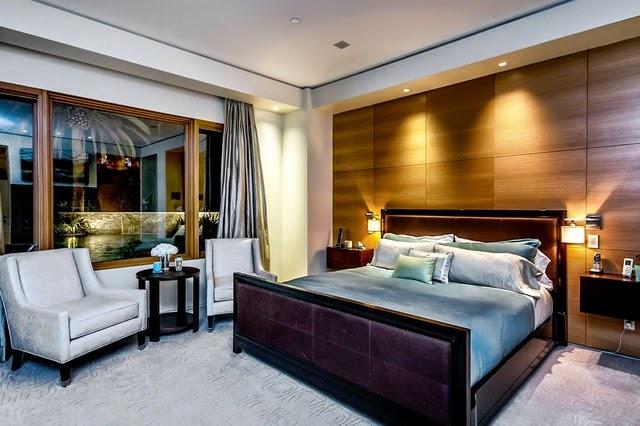 Dise os de domitorios con paredes de madera dormitorios - Paredes para dormitorios ...