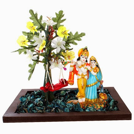 Flowers delivery holy Radha krisna in India