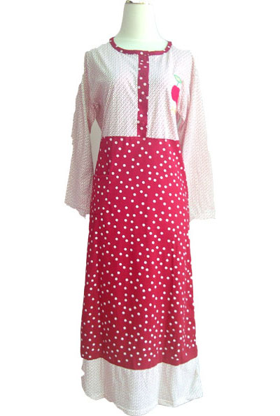 Baju Gamis Dewasa Motif Polka Linn Collection