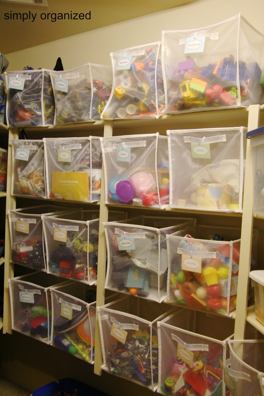 Project Update: Organized Toy Bins with Free Labels - simply organized