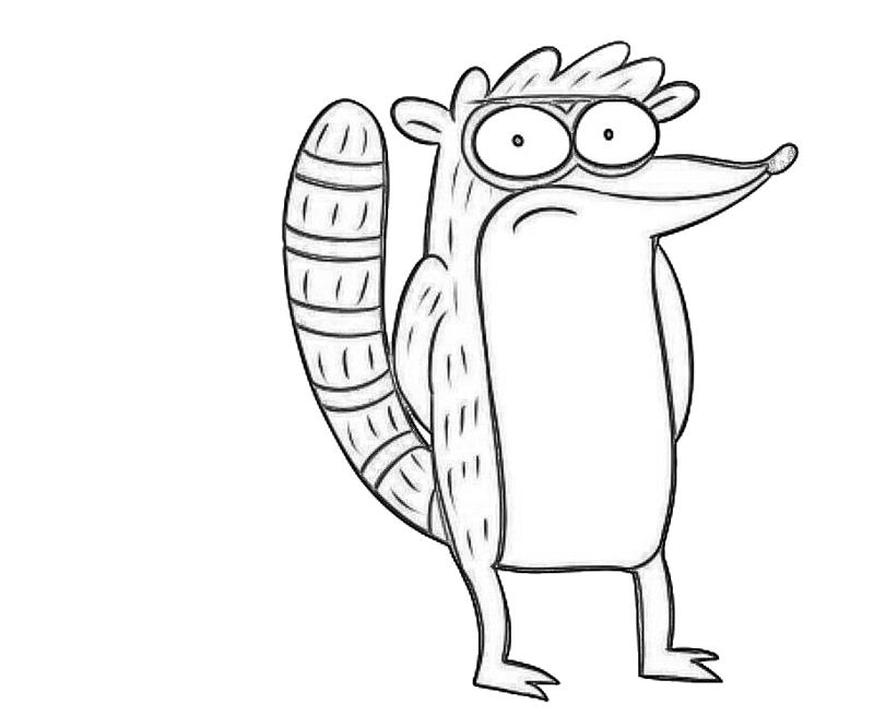 rigby-character-coloring-pages