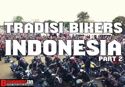 Tradisi bertukar Atribut Bikers Indonesia