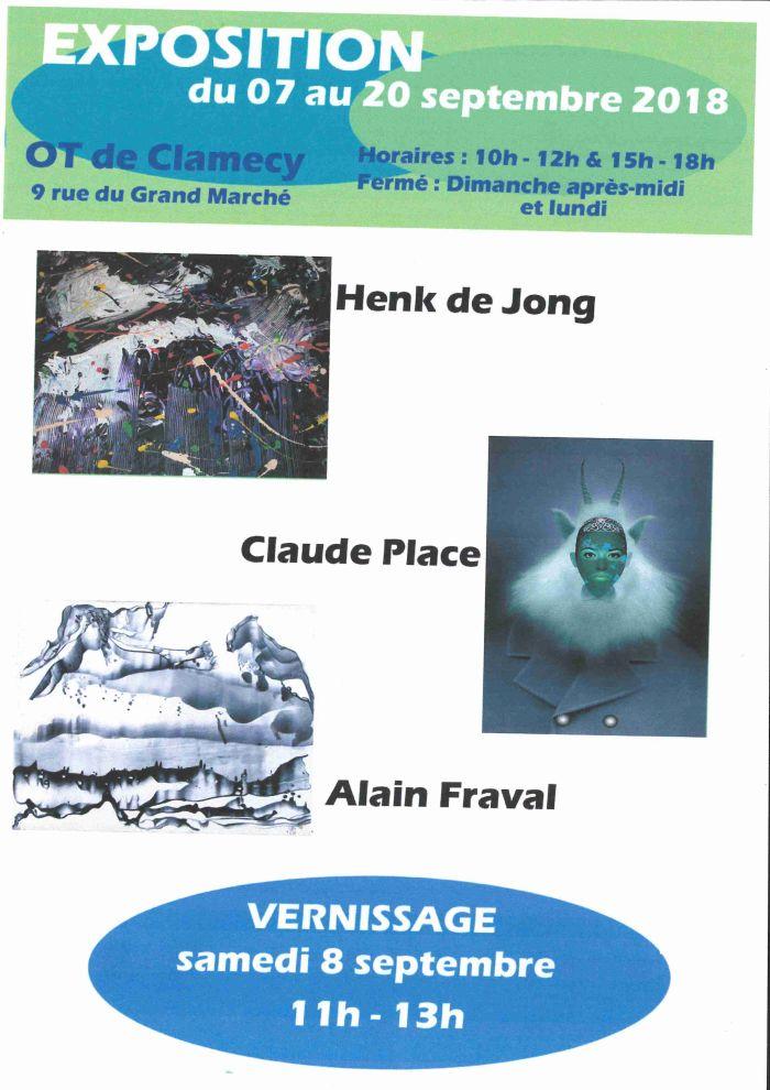 Exposition du 07 au 20 septembre 9 rue du Grand Marché à L'OT de Clamecy